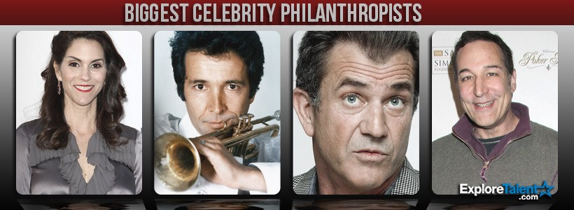 biggest celebrity philanthropists