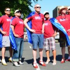 Men March in Women's Shoes to Raise Awareness Against Domestic Violence