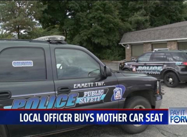 Michigan Cop Buys Mom Car Seat