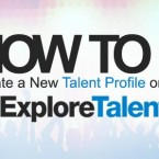 How to Create a New Profile on the ExploreTalent Website