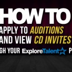 How to Apply to Auditions and View Casting Director Invites on Your ExploreTalent Profile