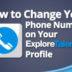 How to Change Your Phone Number on Your ExploreTalent Profile