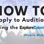 How to Apply for Auditions Using the ExploreTalent Mobile Website