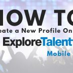 How to Create a New Profile on the ExploreTalent Mobile Site