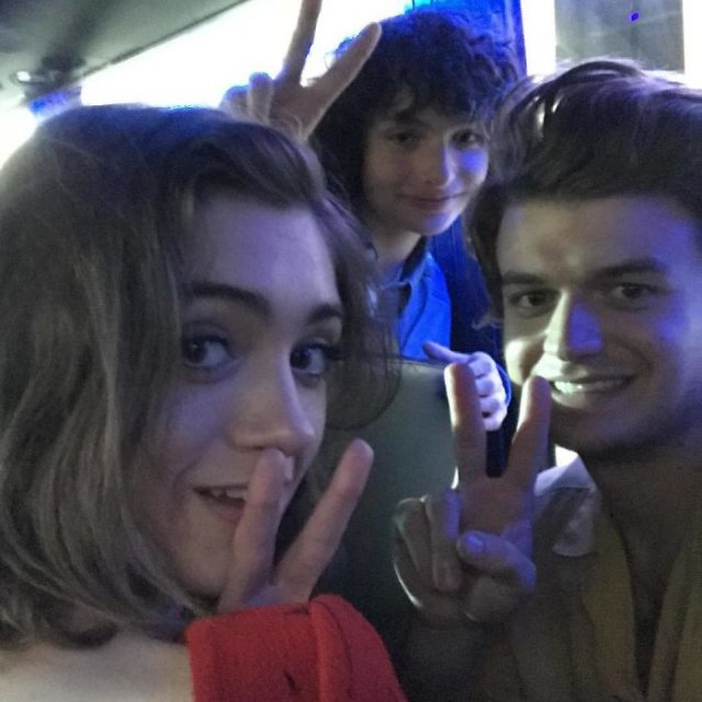 Natalia Dyer and Joe Keery