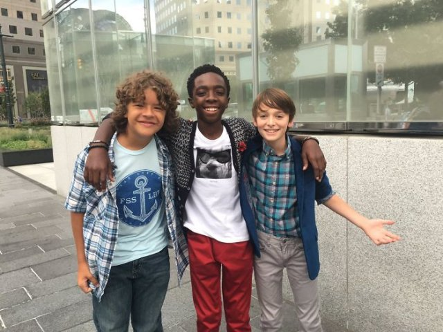 Gaten, Caleb, and Noah