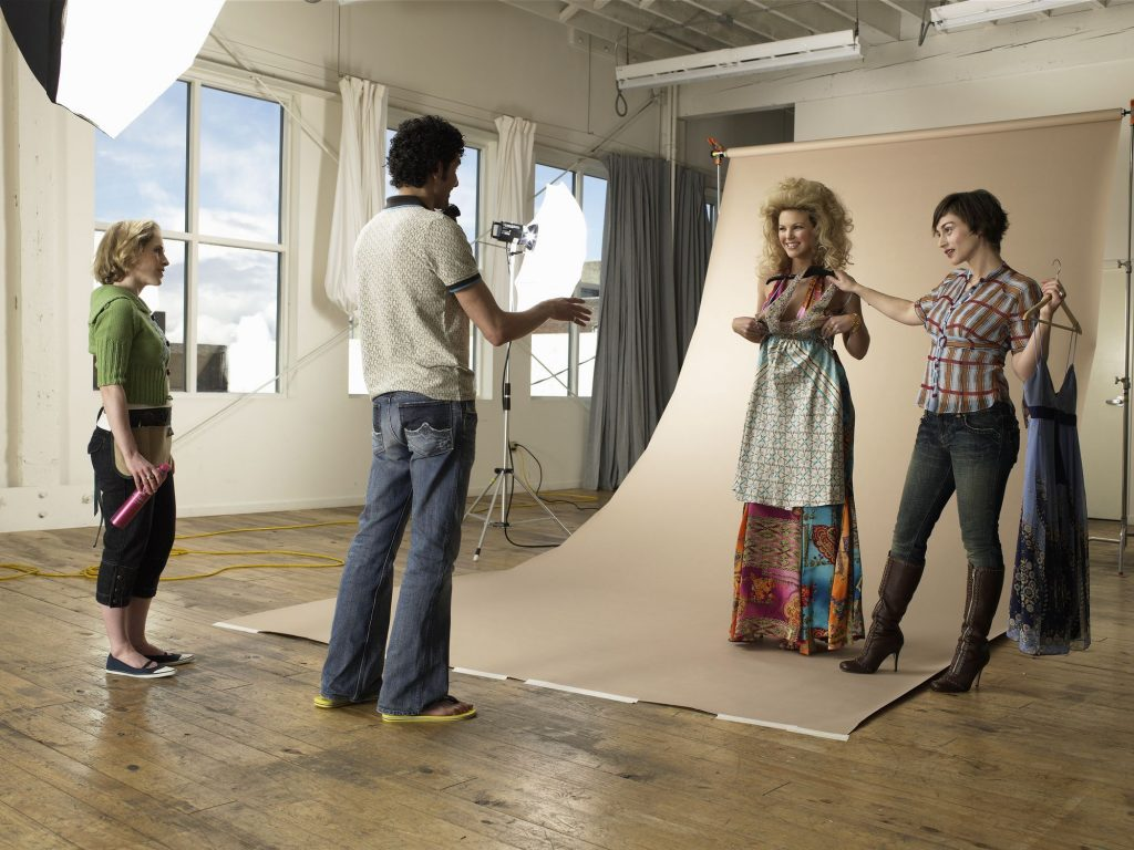 preparing for a print ad model casting